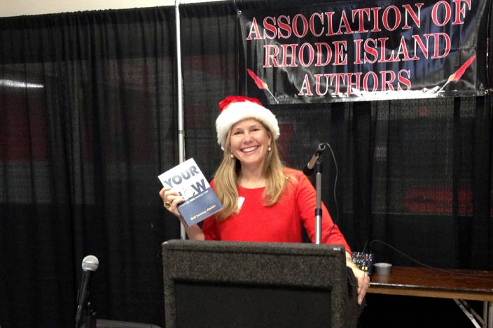 Gail with her book