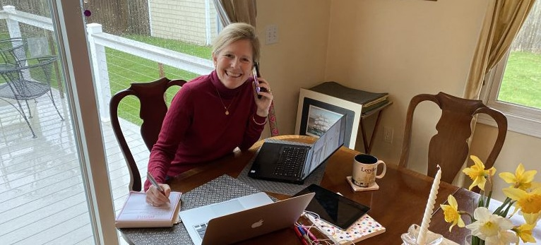 Gail working from home