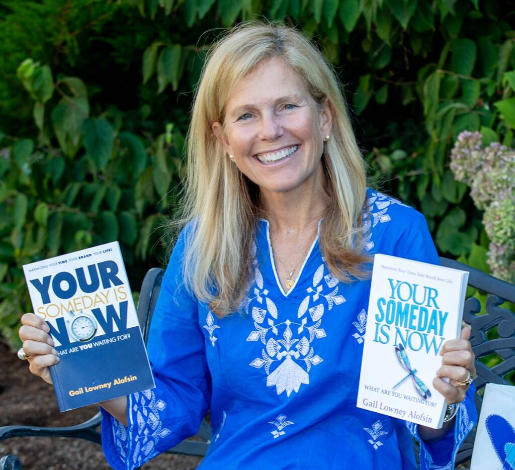 Gail Alofsin with her books
