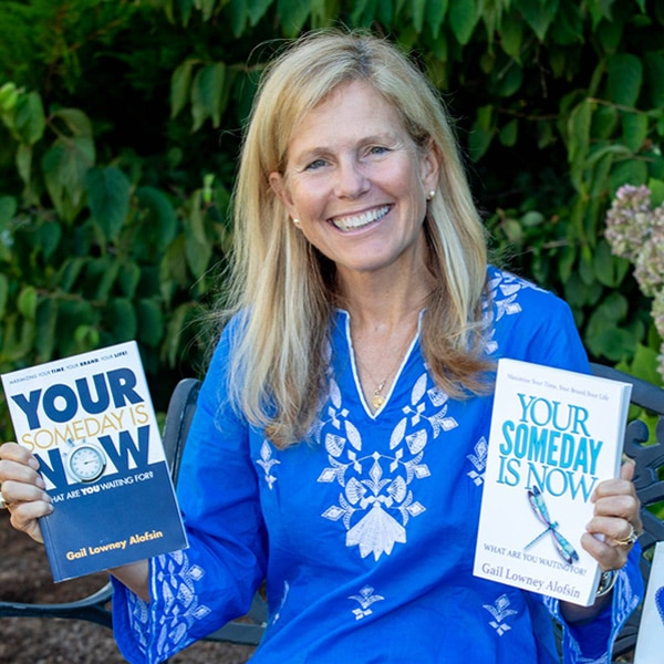 Gail with her book Your Someday is Now
