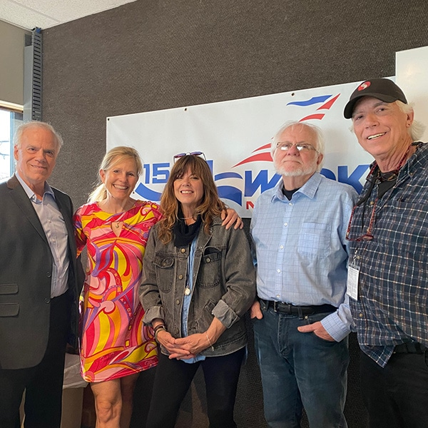 Gail with her Radio Show team